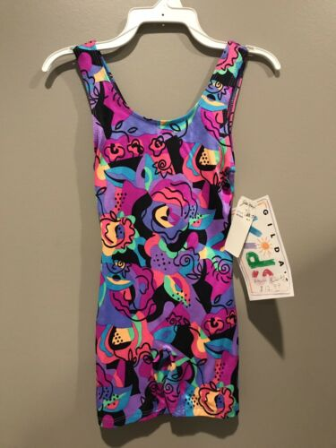 NEW WITH TAGS CHILDS X-SMALL TANK BIKETARD BY GILDA MARX SWEET LOOKING