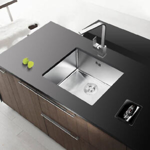 Stainless Steel Inset Square Kitchen Sink Single Bowl Reversible ...