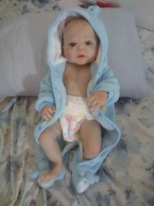 Newborn Full Body Silicone Lifelike Reborn Baby Dolls Real Life Boy Xmas Gift