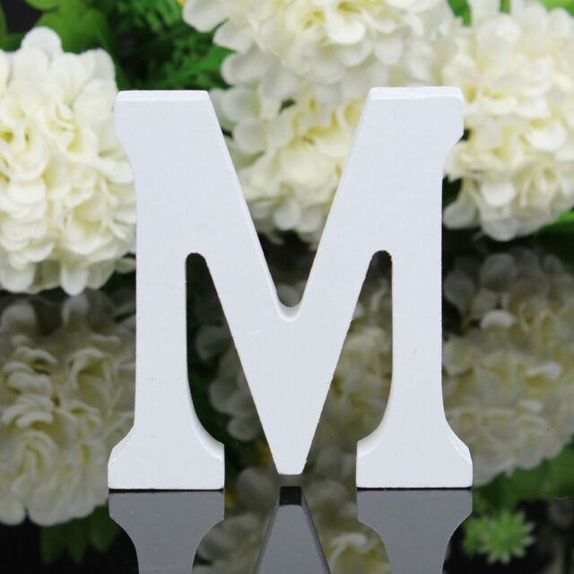 Freestanding Wood Wooden Letters  White Alphabet Wedding Party Home Decorations