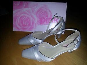 size 40 cbb1b f6231 Details zu Brautschuhe Hochzeitsschuhe Wedding Damen Pumps Gr. 36 Ivory  Satin von Pink