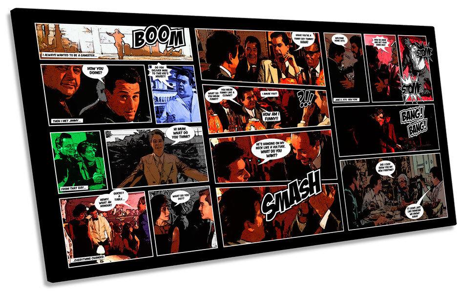 Goodfellas Comic Book PANORAMIC CANVAS WALL ART Framed Print
