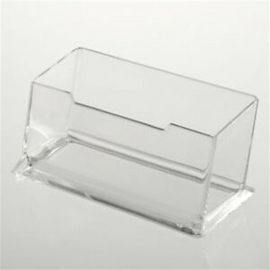 Clear desktop business card holder display stand acrylic plastic image is loading clear desktop business card holder display stand acrylic colourmoves