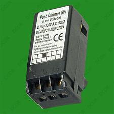 400W Low Voltage 1 Gang 2 Way Push Lighting Dimmer Module, 220V - 240V