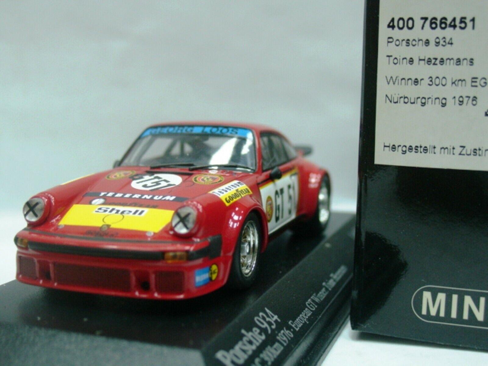 WOW EXTREMELY RARE Porsche 911 RSR 3.0 1976 Gelo EGTC 1 43 Minichamps-Spark