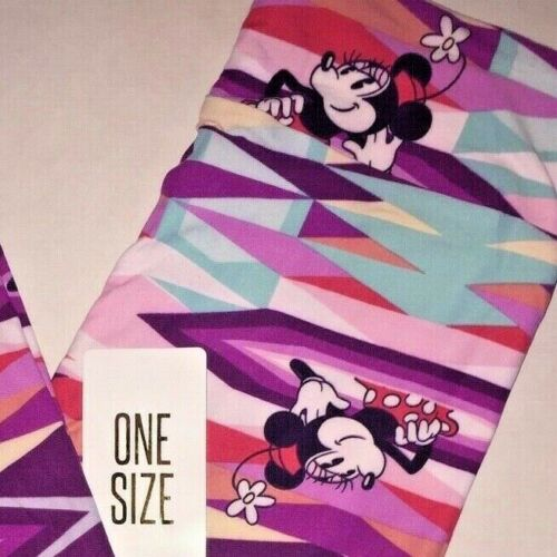 Rosa Blu Leggings Os unicorno Mouse Disney Lularoe Viola Nwt One Minnie Size 8vgp4w