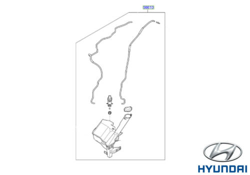 Genuine Hyundai i10 2017 LIMPIAPARABRISAS Depósito /& bomba ASSY 98610B9110