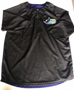 Tampa-Bay-Devil-Rays-MLB-Match-Up-Baseball-Shirt-Quarter-Zip-Black-Size-XL