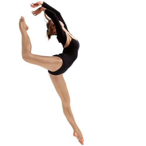 Sedoso Brillo Estribo Danza Ballet Calzas-Junior tamaños