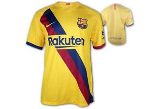 Nike FC Barcelona Trikot Auswärts 19 20 gelb Barca Away Shirt Fan Jersey M-XXL