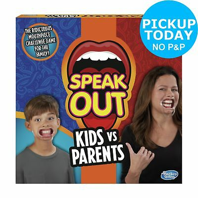 Speak Out Kids vs Parents Game from Hasbro Gaming 4-10 Players 8+ Years