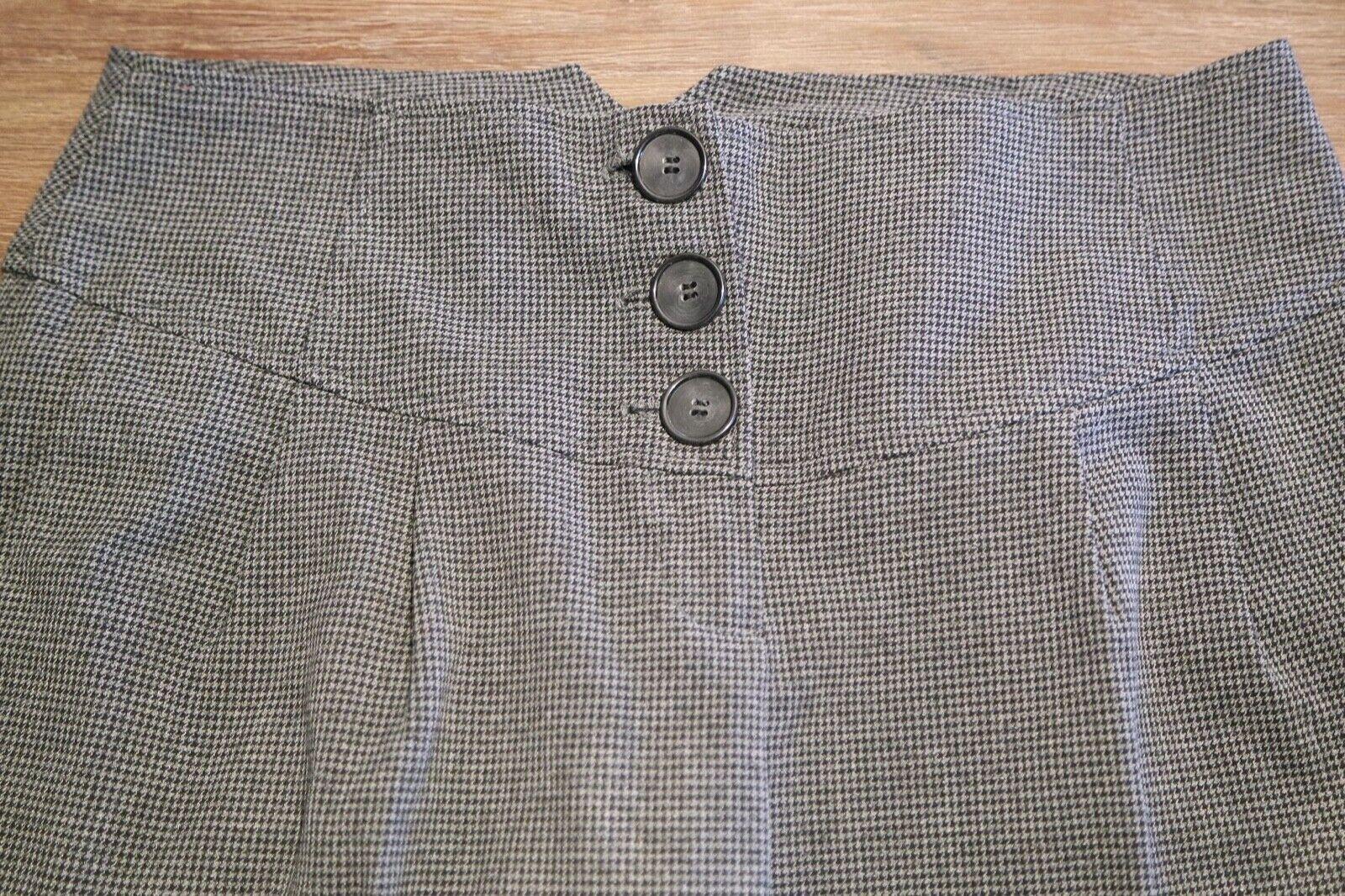 Shorts in Grau-Schwarzem Pepita-Muster, Hahnentritt, Tweed