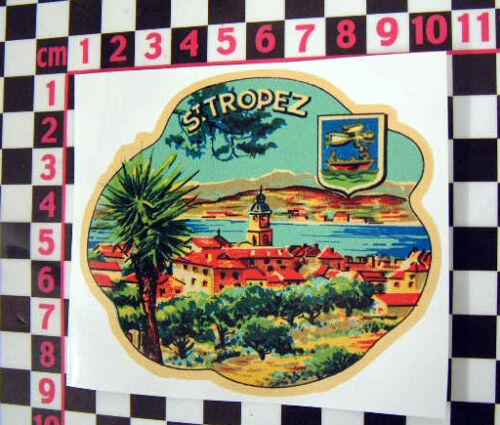 French Holiday Sticker Citroen 2CV Classic Car 1960/'s St Tropez Glass Sticker