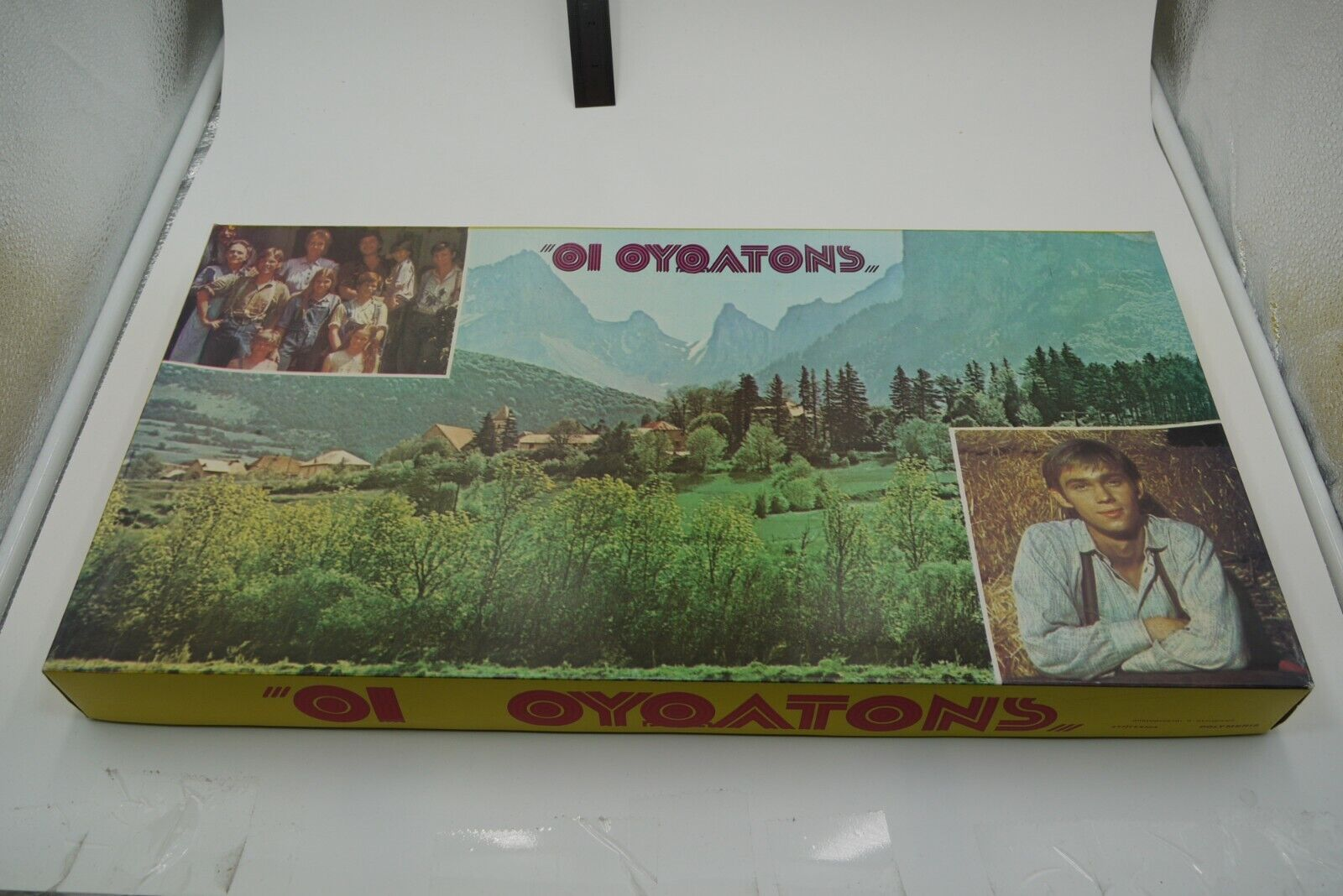 VINTAGE  70'S GREEK tavola gioco THE WALTONS POLYMERIS UNPUNCHED  prezzi bassi