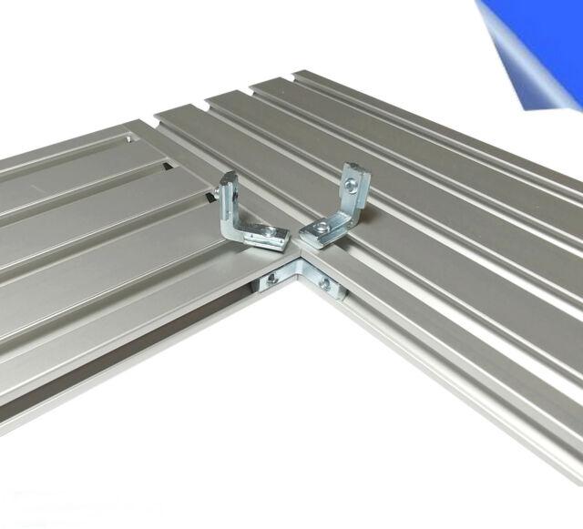 Innenwinkel Nut 6 für Aluprofil Nutplatte 120x15 spezial Winkel