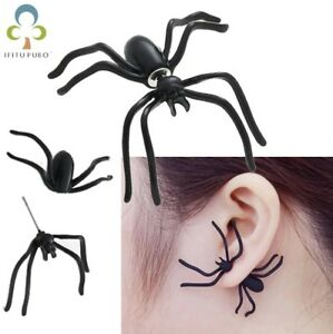 2pc-Halloween-Spooky-Scary-Spider-Ear-Ring-Fancy-Dress-Costume-Insect-Earrings