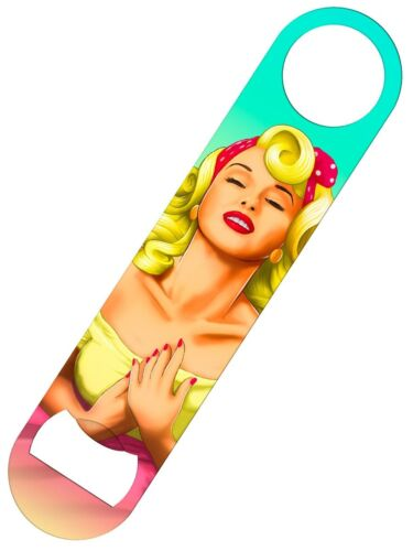 Bottle Opener Too Glam To Give A Damn Pin Up Bar Blade 18 x 4cm