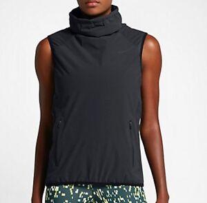 Nike-Aerolayer-Funnel-Neck-Gillet-Training-Vest-Black-Size-S-809260