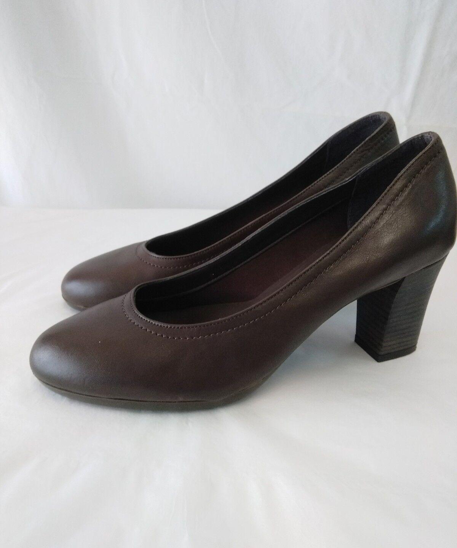 scarpe donna vera pelle liscia Frau misura 39  tacco cm 7,5