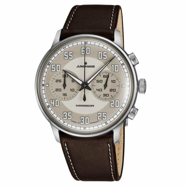 Junghans Meister Driver Chronoscope Self Winding Brown Men's Watch 027/3684.00