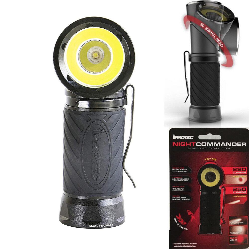 IPredEC Night Commander Torch 250 Lumens 3 in 1 LED Work Light Flashlight