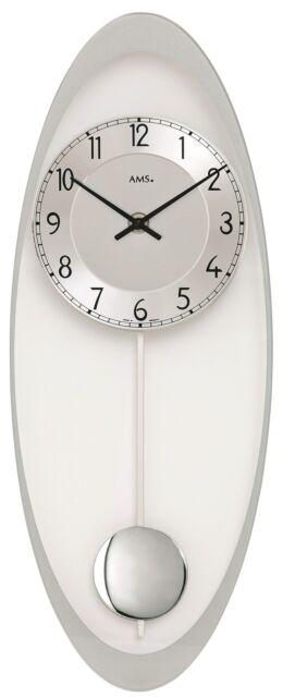 AMS -quartz-pendeluhr 50cm- 7416 Modern Wall Clock with Quartzwerk,Battery