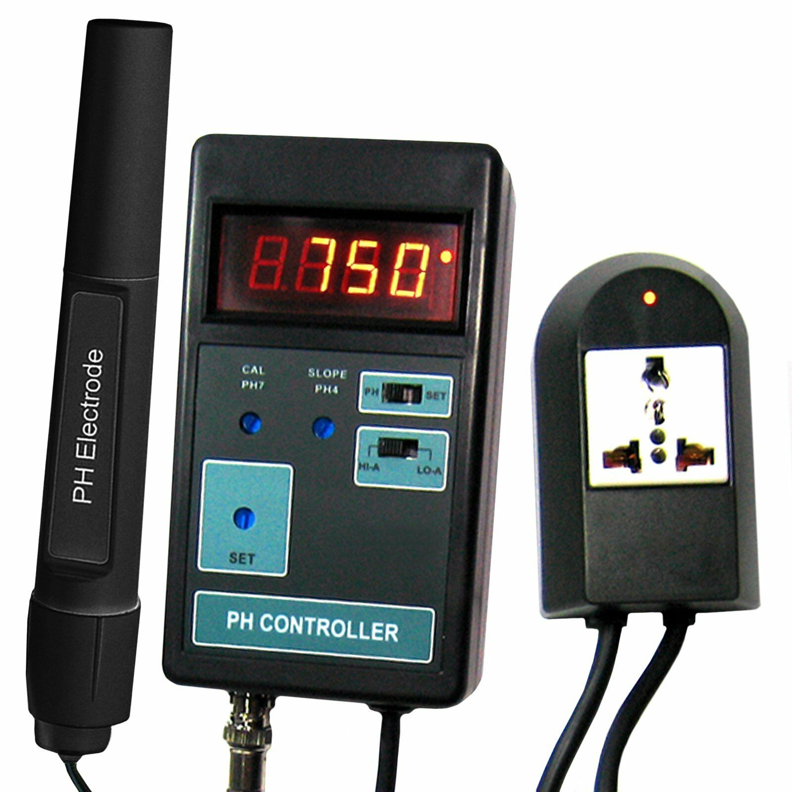 Tragbar pH-CO2-Kontrollzähler Aquarium 014pH 110V  220V Digitaler Messgerät