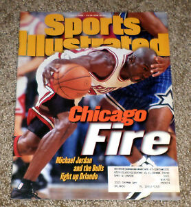 2b490cfde6df3 Details about MICHAEL JORDAN Sports Illustrated Cover June 3, 1996 Chicago  Fire Chicago Bulls