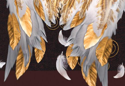ABSTRAKT FEDER Wandbilder xxl Bilder Vlies Leinwand Leinwandbilder n-A-1110-b-a