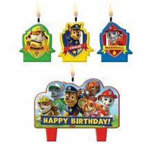 Paw Patrol CANDLE SET 4pcs ~ Happy Birthday Party Supplies Cake topper