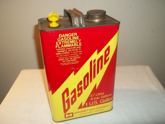Vintage MIDWEST 1 GALLON METAL VENTED GAS CAN Very Clean