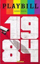1984, Broadway Playbill Opening Night Date Pride Ed. Olivia Wilde, Tom Sturridge