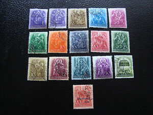 Ungarn-Briefmarke-Yvert-Und-Tellier-N-490-A-504-Gestempelt-A2