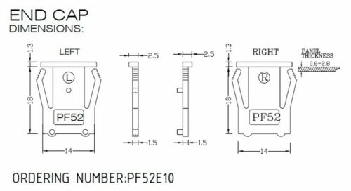 1set Pushwheel BCD Switch 3-Digit Cap PF52 0~9 Scale Setting H=15mm Hampolt