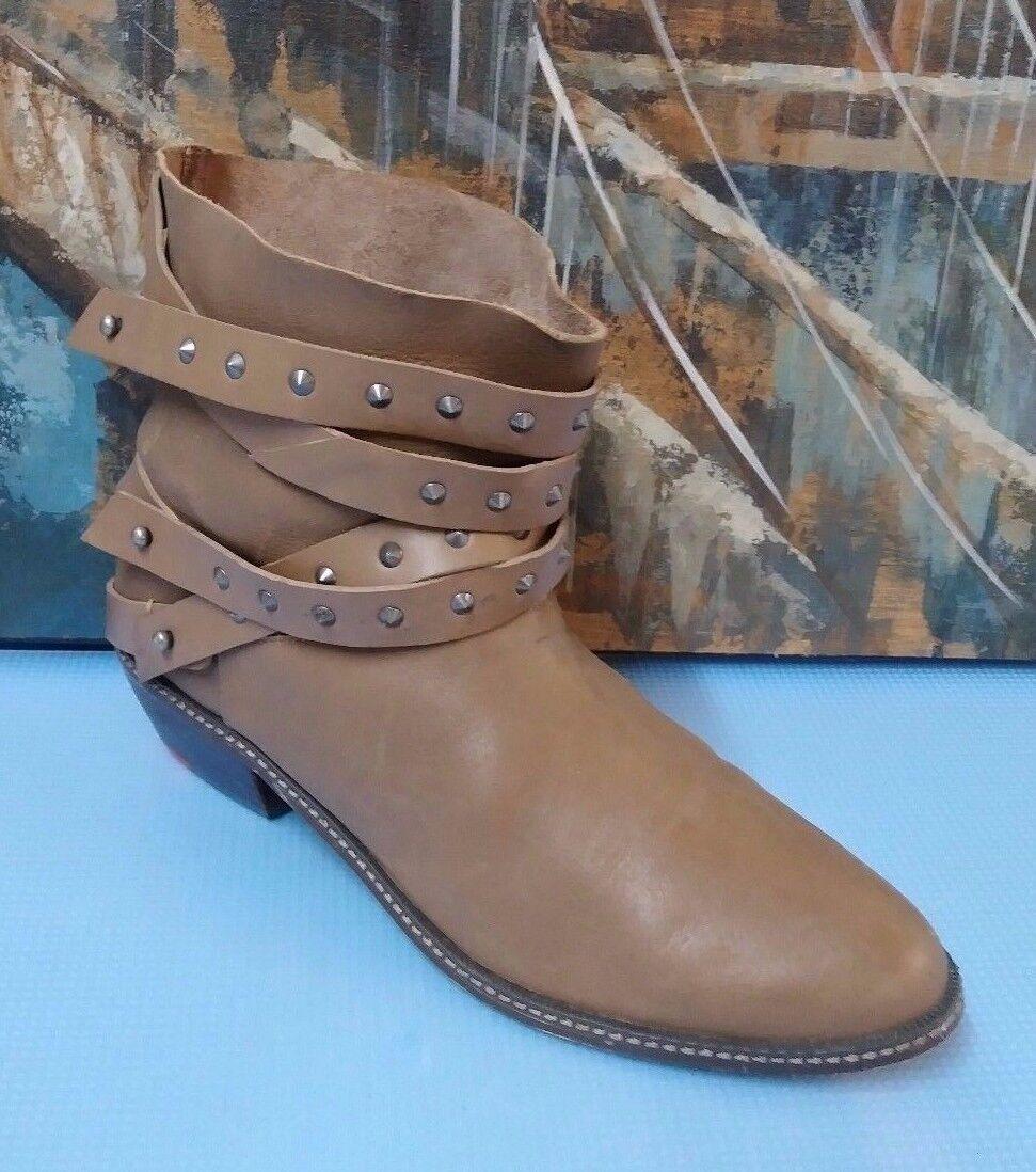 Joe's Para Mujer Beige Gamuza Tobillo botas Tacones 9 Medio (B, M)