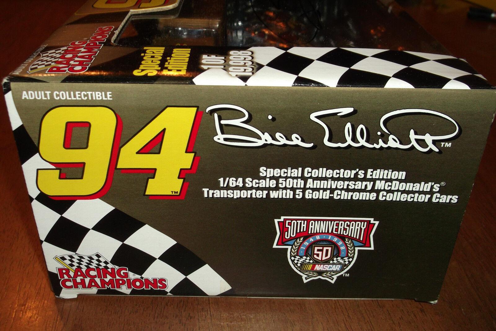 Bill Elliott  94 Autografiado Edición Limitada transporte transporte transporte y 5 coches 1 64 raras (39) acb362