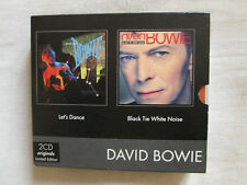 BOWIE David 2 CD BOX SET Rare : Let's Dance +  Black Tie White Noise