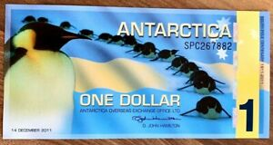 2011-ANTARCTICA-ONE-DOLLAR-BANKNOTE-100th-Ann-UNC