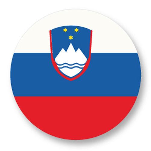 Magnet Aimant Frigo Ø38mm Drapeau Flag Maillot Echarpe Slovenie Slovenia si