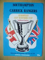 1976 European Cup Winners' Cup 2nd RD, 2nd Leg- SOUTHAMPTON v CARRICK RANGERS