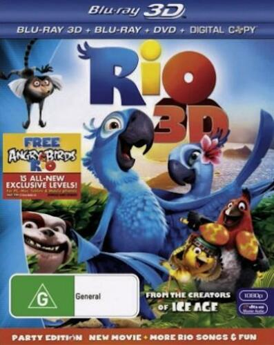 1 of 1 - RIO 3-D PARTY EDITION :NEW 3D Blu-Ray