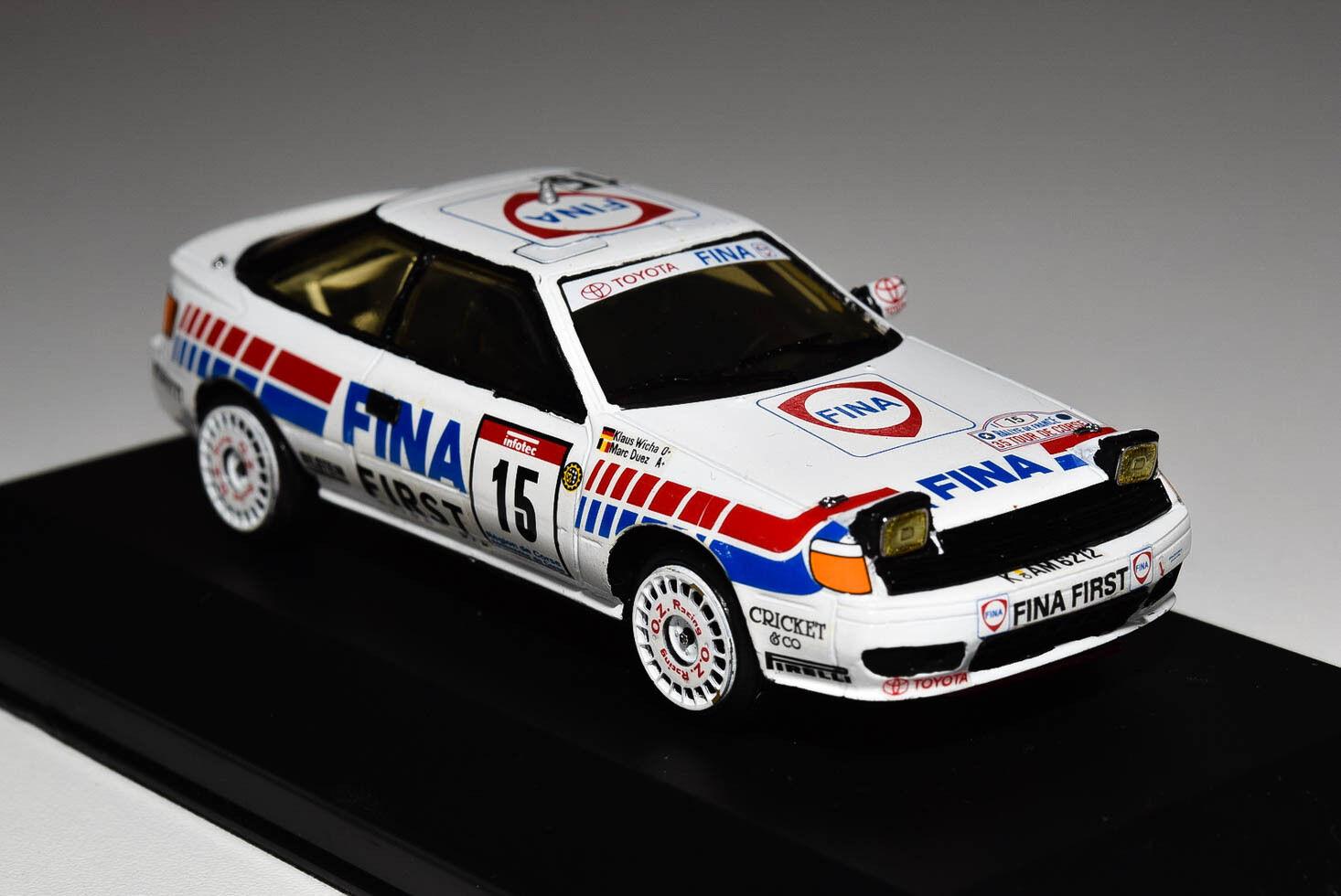 Racing43 toyota celica gt vier fina duez   wicha tour de corse 1991 bulit kit 1   43