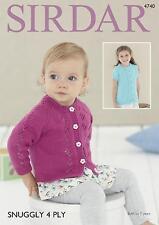 e82fb86509c6 1901 Sirdar Snuggly 4ply Crochet Baby Girls Cardigans Pattern Birth ...