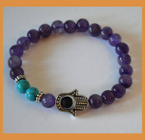 Amethyst-Gemstone-Turquoise-Bead-Hamsa-Energy-Healing-Protection-Bracelet