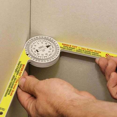 Starrett 505P 7 Inch Plastic Pro-Site Protractor Dial Reading Mitre Measuring
