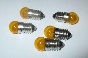 Ampoules-11mm-Bille-3-5V-Monture-E10-Couleur-Jaune-gt-5-Piece-Neuf
