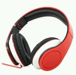 stereo headphones red white folding craig new in box ebay. Black Bedroom Furniture Sets. Home Design Ideas