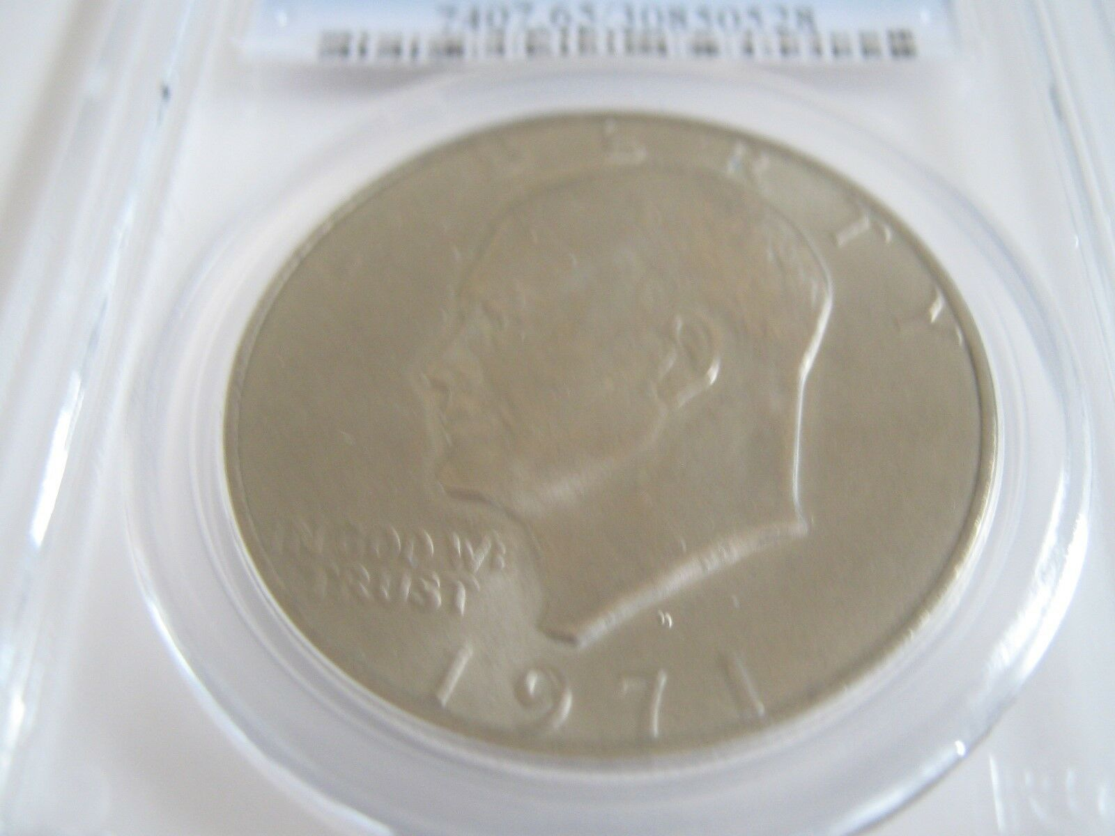 1971-D , Eisenhower Dollar , PCGS , MS 65