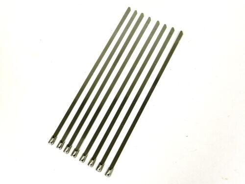 """12/"""" UNIVERSAL STAINLESS STEEL CABLES ZIP TIES X8"""