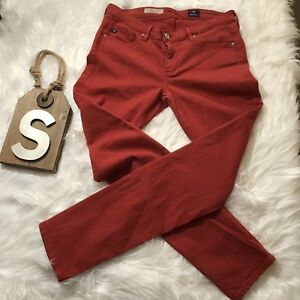AG-Adriano-Goldschmied-Red-Sz-27R-The-Stevie-Ankle-Slim-Straight-Leg